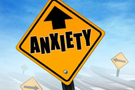 Anxiety and Neurofeedback Caution Sign